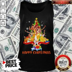 Freddie Mercury Happy Christmas Tree Tank Top - Design By Waretees.com