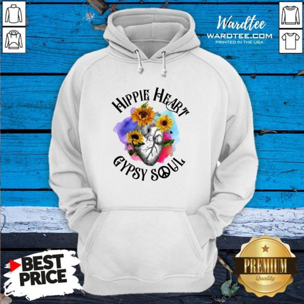 Funny Hippie Heart Gypsy Soul Hoodie Design By Waretees.com