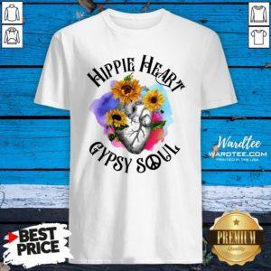 Funny Hippie Heart Gypsy Soul Shirt Design By Waretees.com