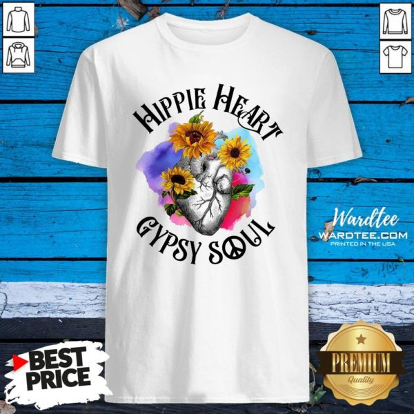 Funny Hippie Heart Gypsy Soul Shirt Design By Waretees.com