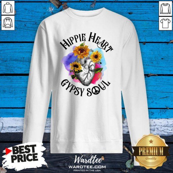 Funny Hippie Heart Gypsy Soul Sweatshirt Design By Waretees.com