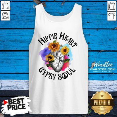 Funny Hippie Heart Gypsy Soul Tank Top Design By Waretees.com