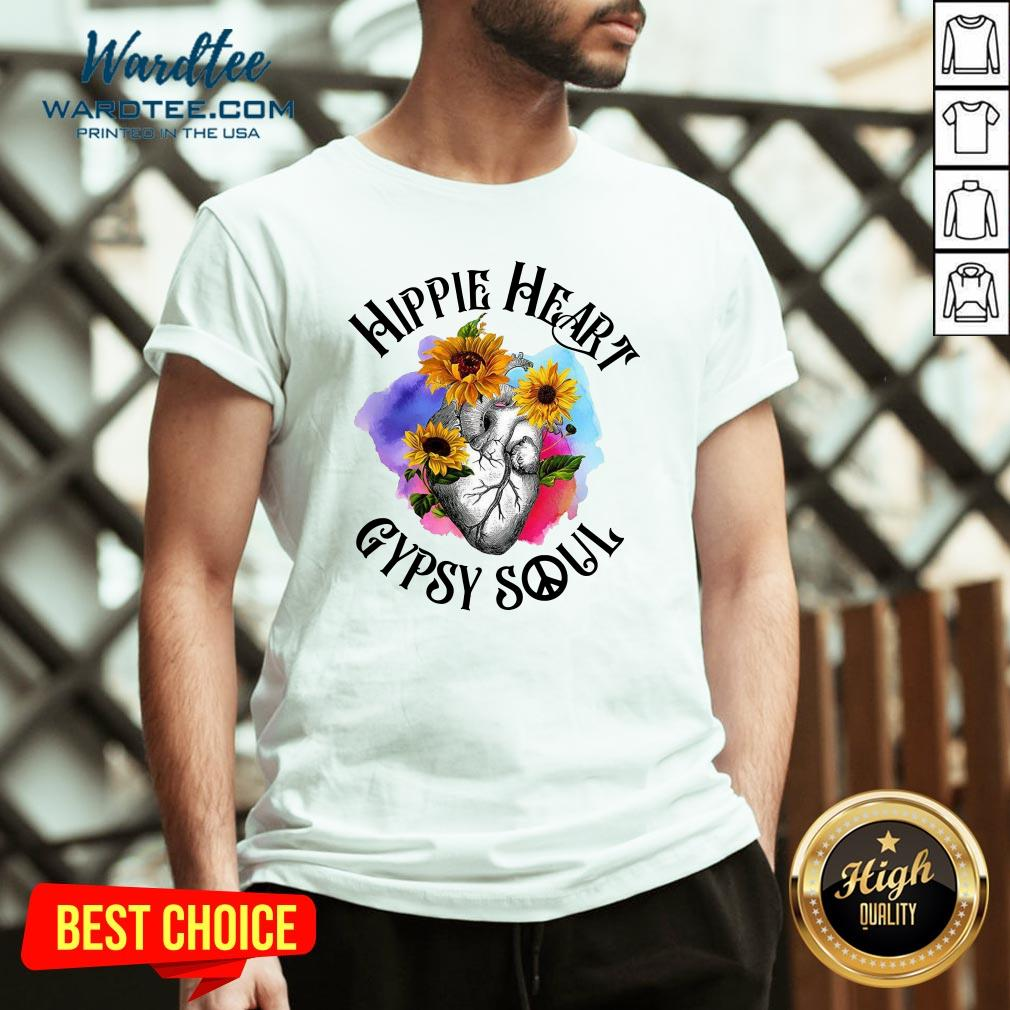 Funny Hippie Heart Gypsy Soul V-neck Design By Waretees.com