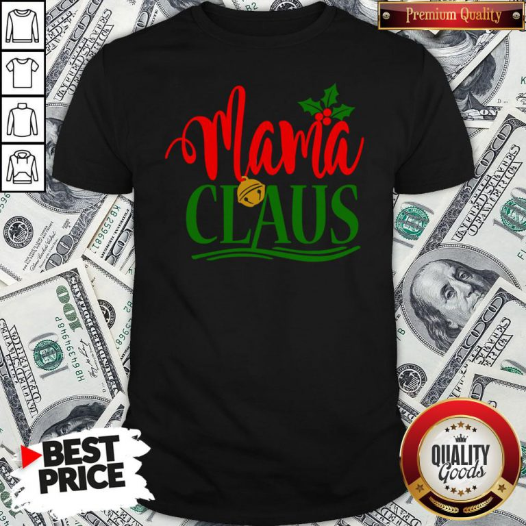 Funny Mama Santa Claus Hat Christmas Matching Family Group Pajama Shirt - Design By Waretees.com