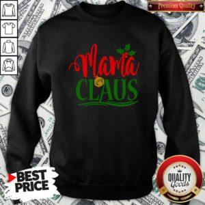Funny Mama Santa Claus Hat Christmas Matching Family Group Pajama Sweatshirt - Design By Waretees.com