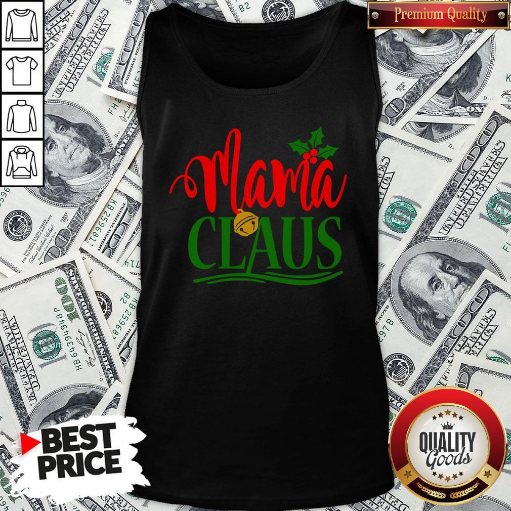 Funny Mama Santa Claus Hat Christmas Matching Family Group Pajama Tank Top - Design By Waretees.com