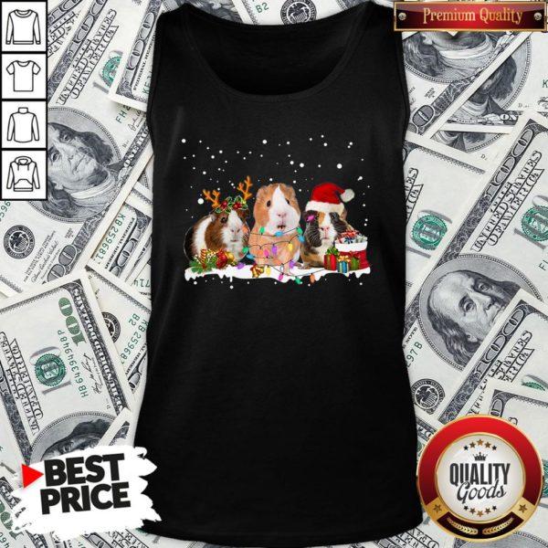 Funny Santa Hamster Reindeer Christmas Tank Top - Design By Waretees.com