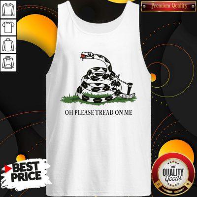 Gadsden Flag Oh Please Tread On Me Tank Top - Design By Waretees.com