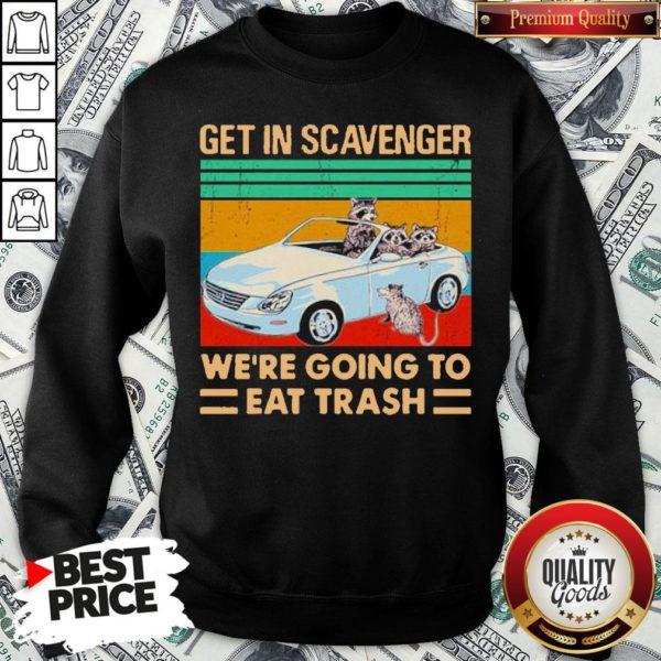 Get In Scavenger We're Going To Eat Trash Vintage Sweatshirt - Design By Waretees.com