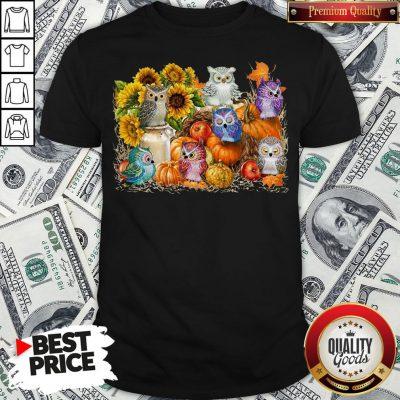 Good Owls Pumpkin Sunflower Halloween Shirt - Design By Waretees.com
