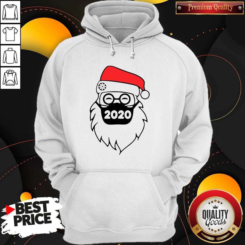 Good Santa Wearing Mask 2020 Christmas Hoodie - Design By Waretees.com