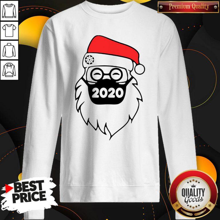 Good Santa Wearing Mask 2020 Christmas Sweatshirt - Design By Waretees.com