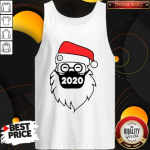 Good Santa Wearing Mask 2020 Christmas Tank Top - Design By Waretees.com