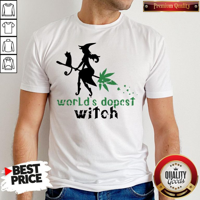 Good Weed Worlds Dopest Witch Shirt - Design By Waretees.com