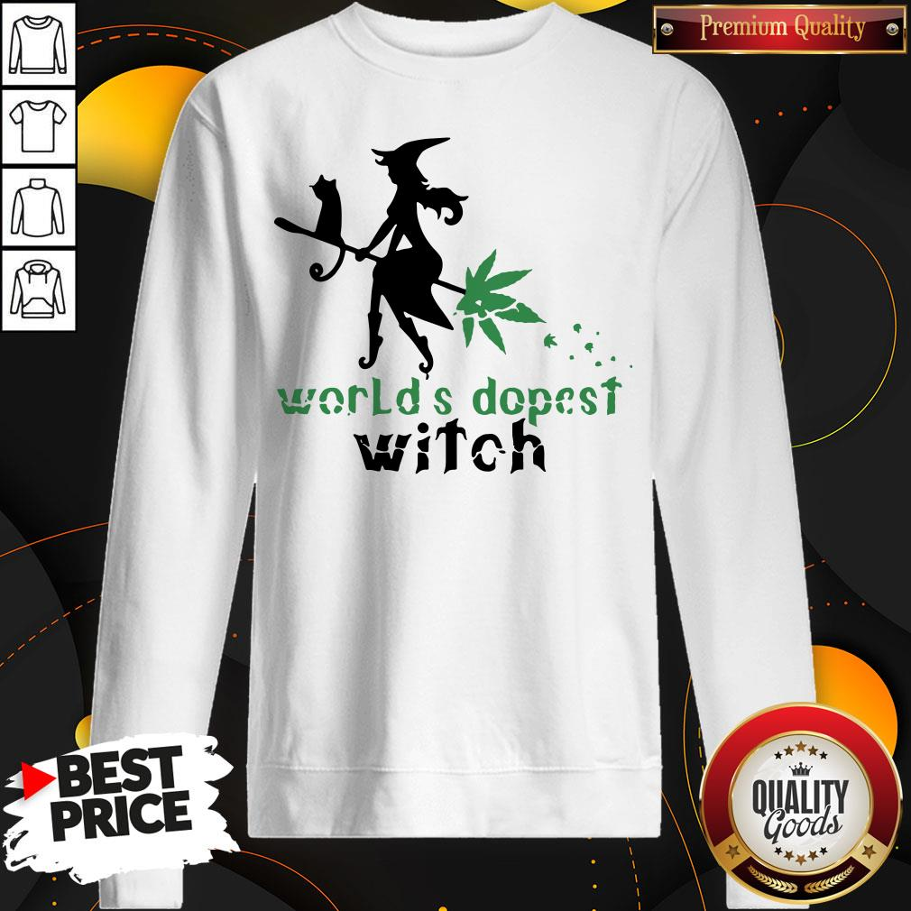 Good Weed Worlds Dopest Witch Sweatshirt - Design By Waretees.com
