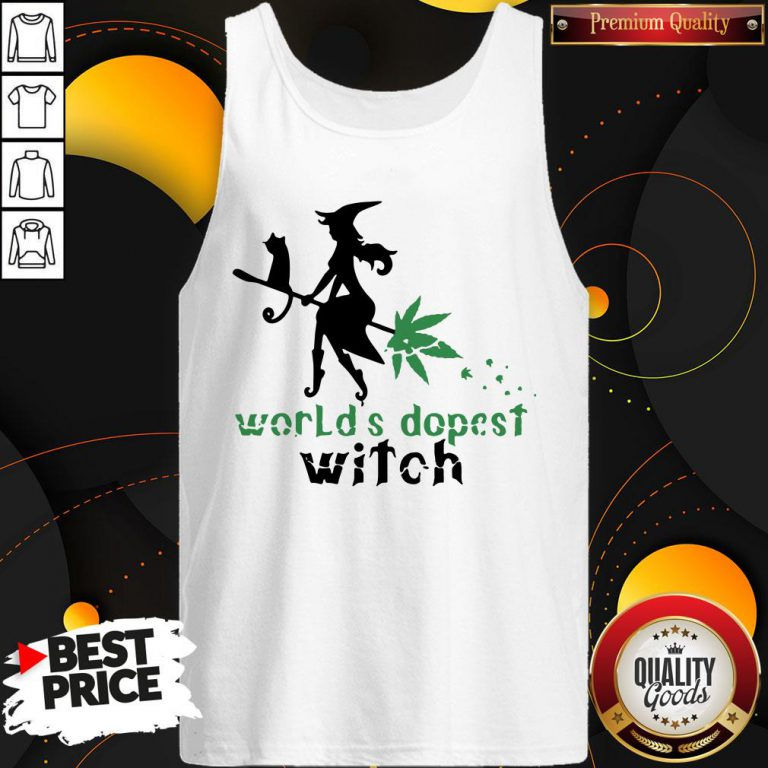 Good Weed Worlds Dopest Witch Tank Top - Design By Waretees.com
