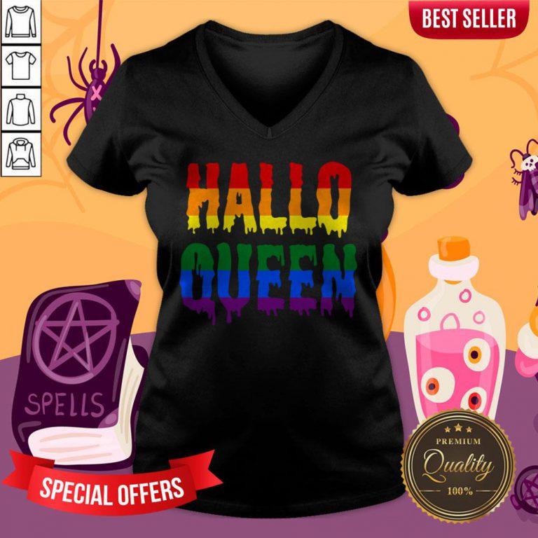 Halloqueen LGBTQ Rainbow Pride Halloween V-neck
