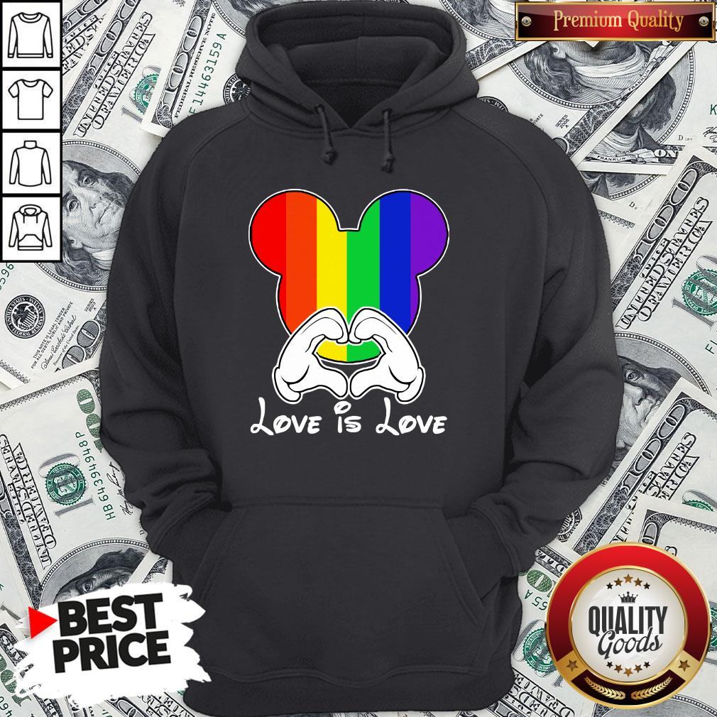 Happy Mickey Mouse Love Is Love 2020 Hoodie - Design By Waretees.com
