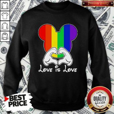Happy Mickey Mouse Love Is Love 2020 Sweatshirt - Design By Waretees.com