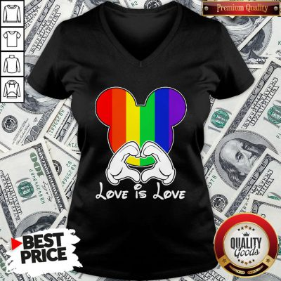 Happy Mickey Mouse Love Is Love 2020 V-neck- Design By Waretees.com