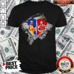 Heart Kobe Bryant And Michael Jordan Shirt - Design By Waretees.com