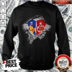 Heart Kobe Bryant And Michael Jordan Sweatshirt - Design By Waretees.com