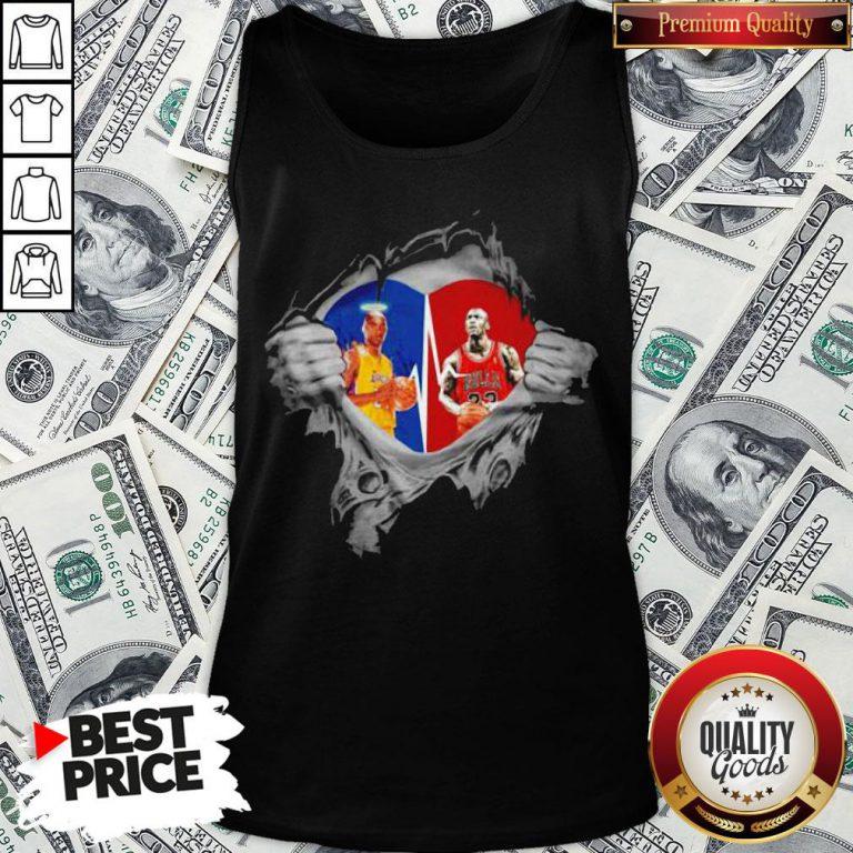 Heart Kobe Bryant And Michael Jordan Tank Top - Design By Waretees.com