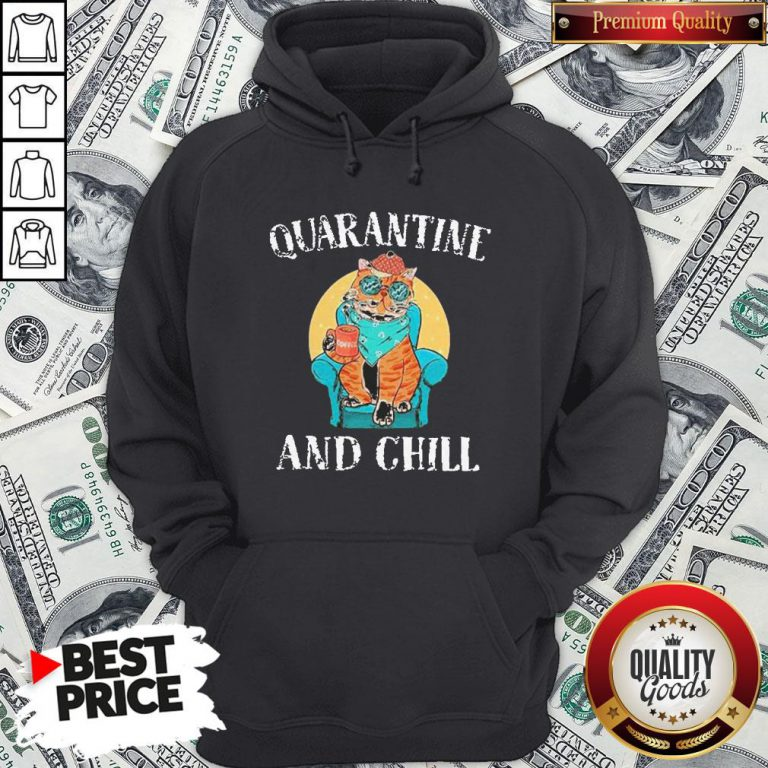 Hot Cat Quarantine And Chill 2020 Hoodie - Design By Waretees.com