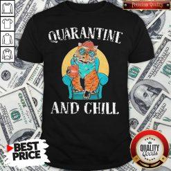 Hot Cat Quarantine And Chill 2020 Shirt - Design By Waretees.com