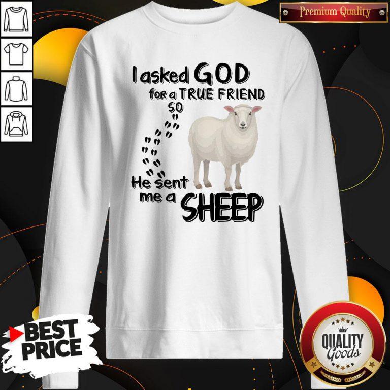 I Asked God For A True Friend So He Sent Me A Sheep Sweatshirt