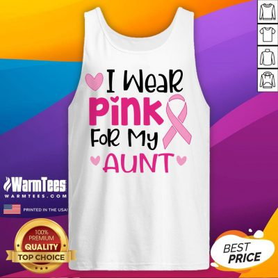 I Wear Pink For My Aunt Tank Top - Design By Waretees.com