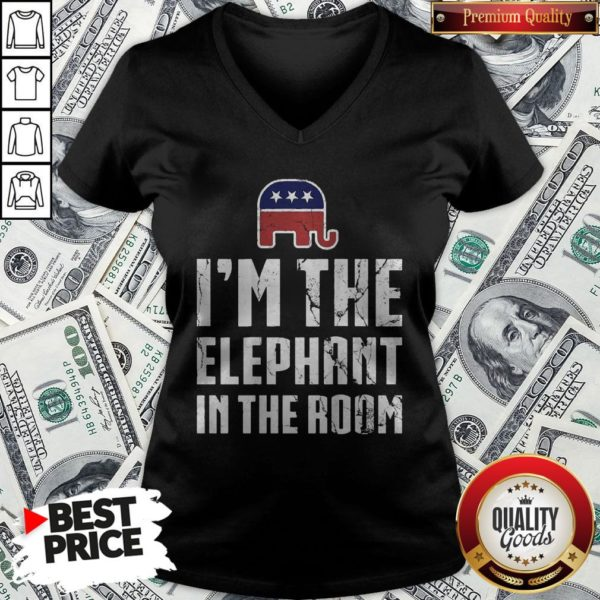 I'm The Elephant In The Room Republican Conservative Pride V-neck - Design By Waretees.com