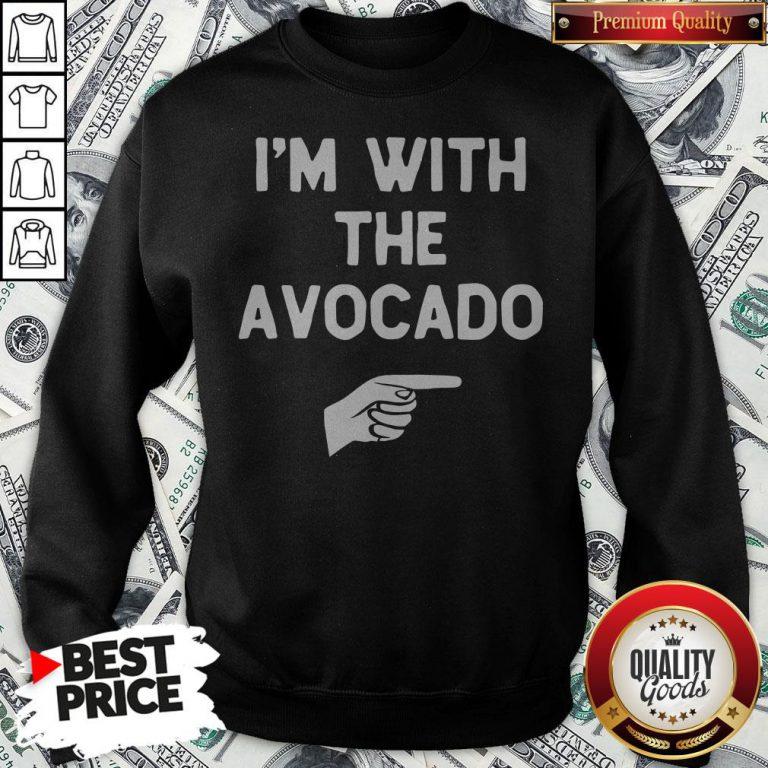 I'm With The Avocado Costume Halloween Matching Sweatshirt - Design By Waretees.com