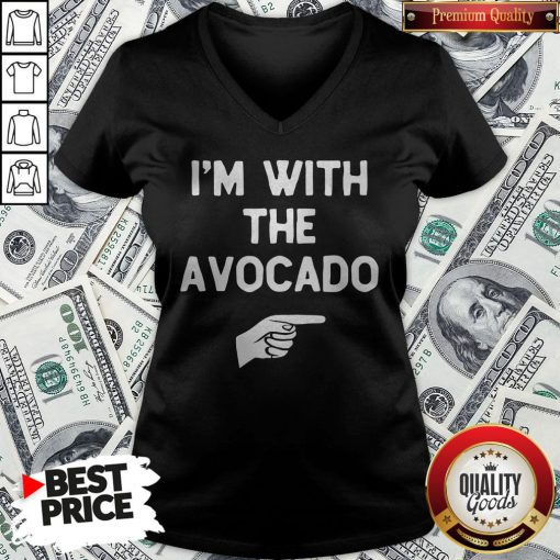 I'm With The Avocado Costume Halloween Matching V-neck - Design By Waretees.com