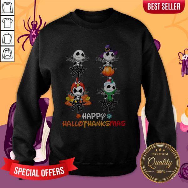Jack Skellington Happy Hallothanksmas Sweatshirt