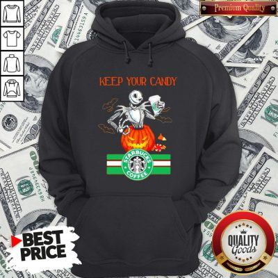 Jack Skellington Keep Your Candy I'll Have Starbuck Coffee Hoodie - Design By Waretees.com