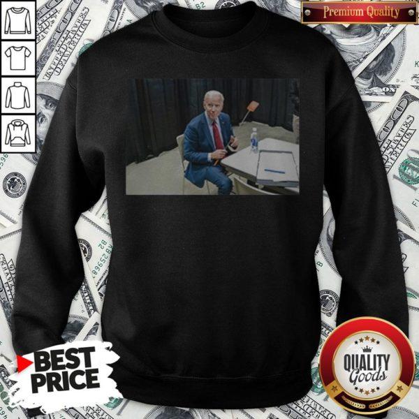 Joe Biden With The Fly Sweatshirt - Design By Waretees.com