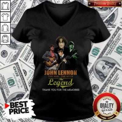 John Lennon The Man The Myth The Legend Thank You For The Memories V-neck