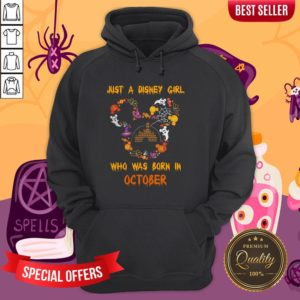Just A Disney Girl Who Was Born In October Halloween Hoodie