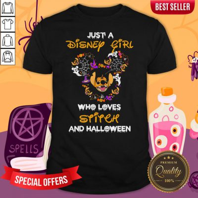 Just Disney Girl Who Loves Stitch And Halloween Shirt