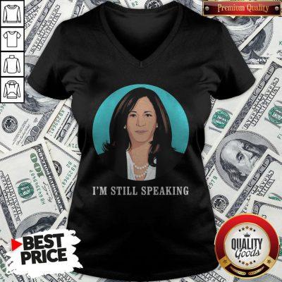 Kamala Harris I'm Still Speaking V-neck - Design By Waretees.com
