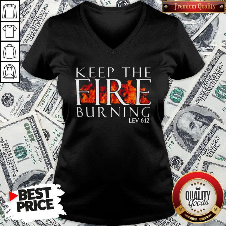 Keep The Fire Burning Lev 612 V-neck - Design By Waretees.com