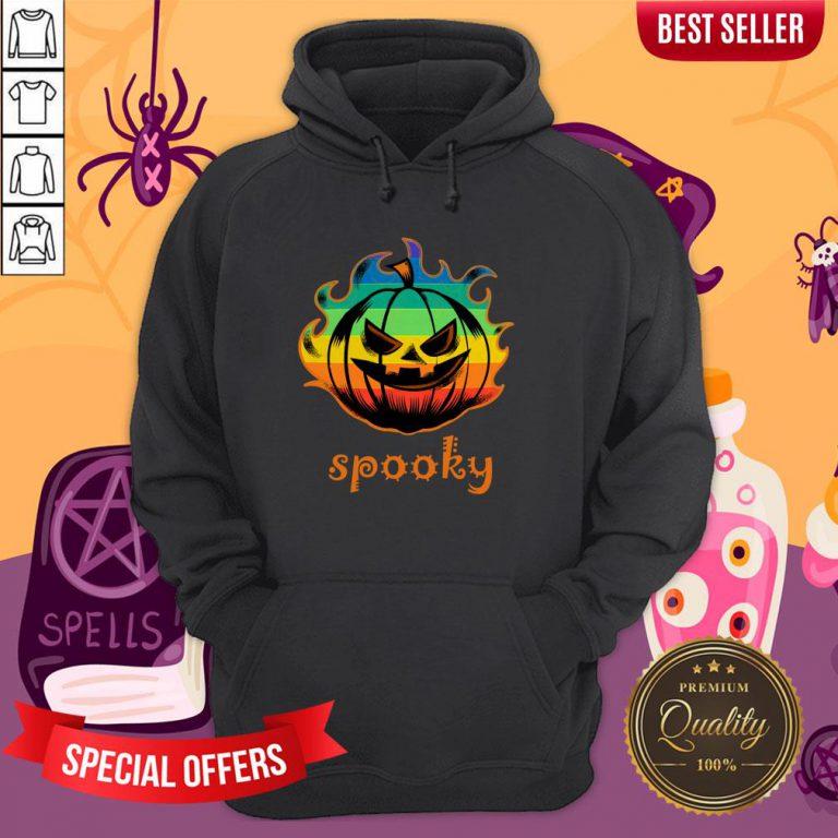 LGBT Pumpkin Fire Spooky Halloween Hoodie