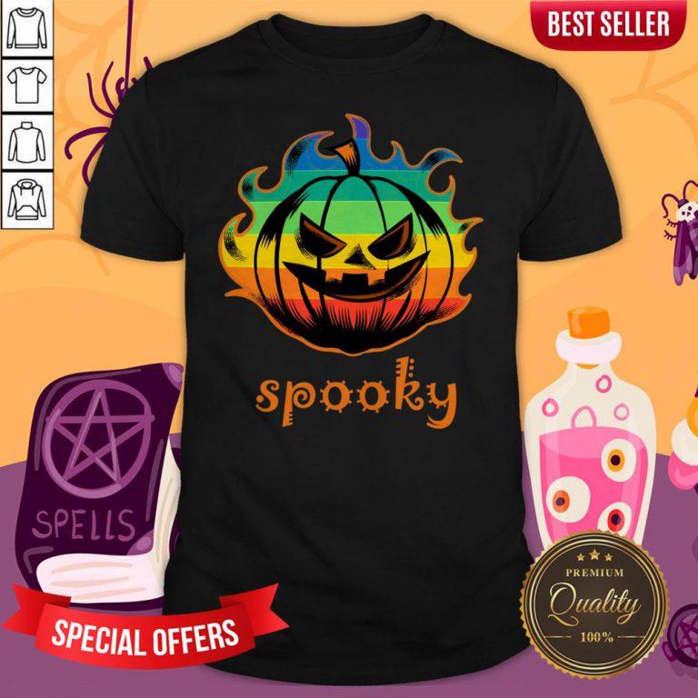 LGBT Pumpkin Fire Spooky Halloween Shirt