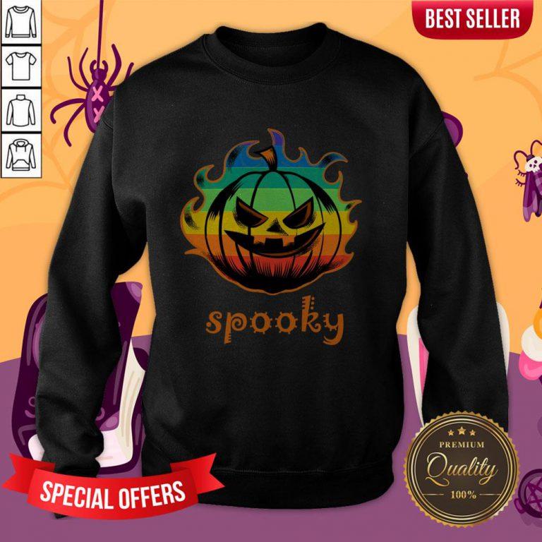 LGBT Pumpkin Fire Spooky Halloween Sweatshirt