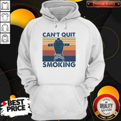 Love Can't Quit Smoking Vintage Hoodie - Design By Waretees.com