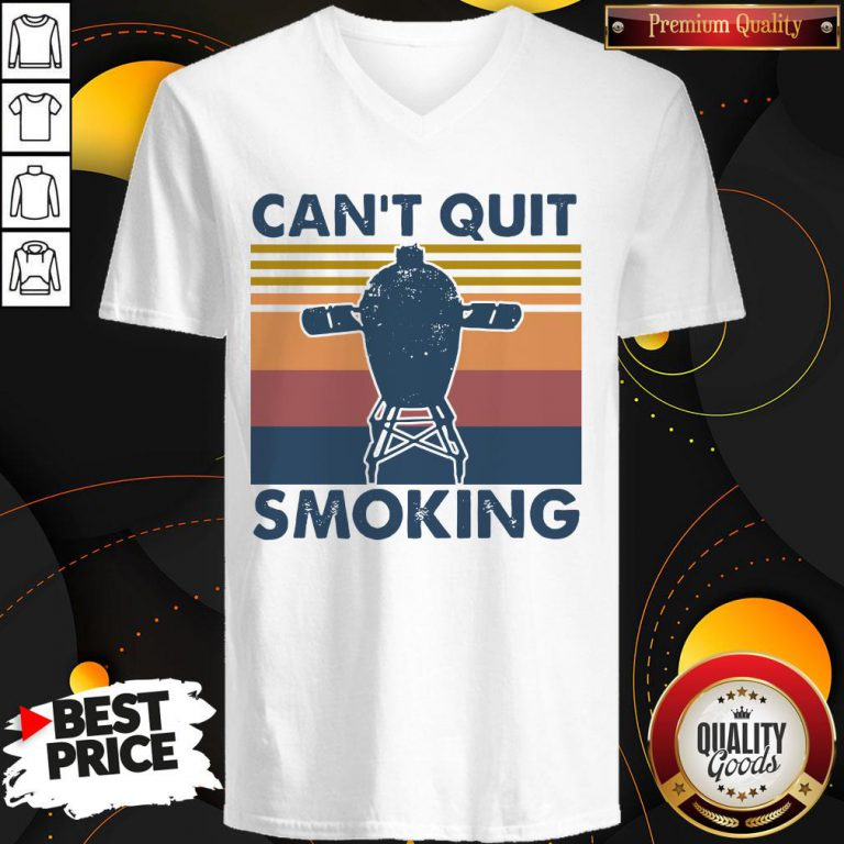Love Can't Quit Smoking Vintage V-neck - Design By Waretees.com