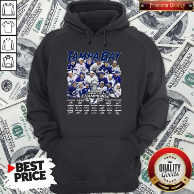 Love Tampa Bay Stanley Cup Champions Signature Hoodie - Design By Waretees.com