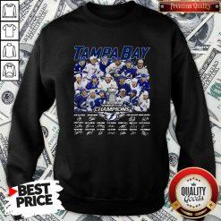 Love Tampa Bay Stanley Cup Champions Signature Sweatshirt - Design By Waretees.com
