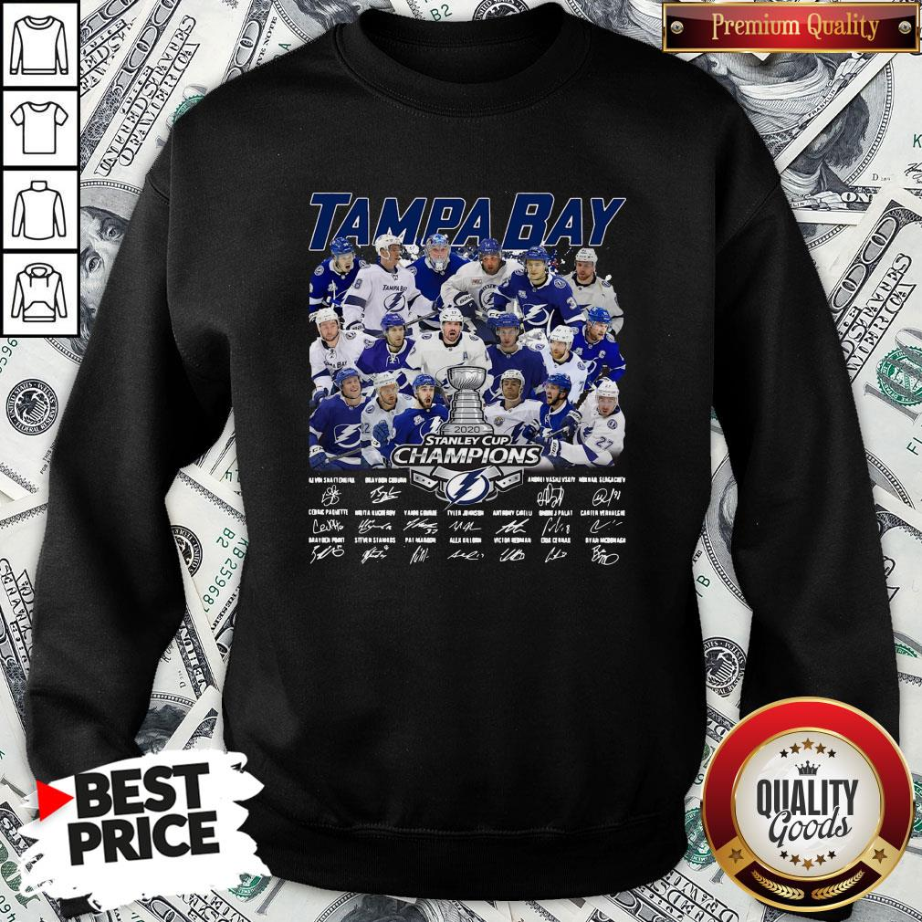 Love Tampa Bay Stanley Cup Champions Signature Sweatshirt - Design By Waretees.com